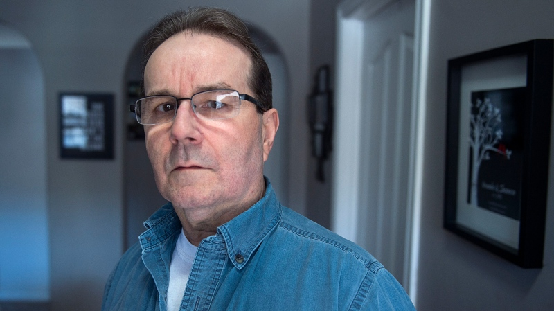 Glen Assoun, jailed for over 16 years for the knife murder of his ex-girlfriend in a Halifax-area parking lot, is seen at his daughter's residence in Dartmouth, N.S. on Thursday, Feb. 28, 2019.  (THE CANADIAN PRESS/Andrew Vaughan)