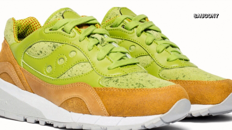 Saucony's 'Avocado Toast' Shadow 6000 shoe is pictured.