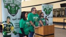 calgary, logan boulet, green shirt day, organ dona