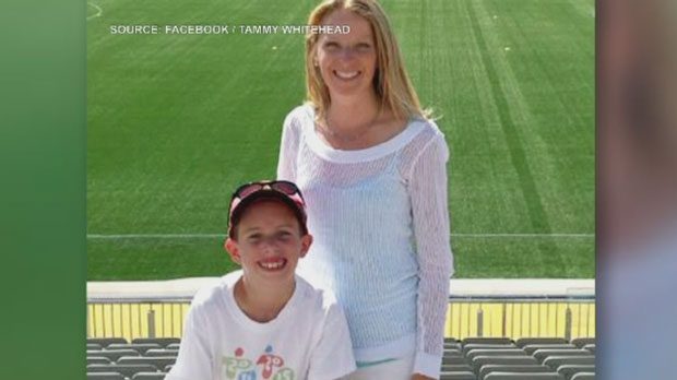 Anderson Whitehead, 11, is seen in this undated photograph with his mother Laura Whitehead. (Facebook/Tammy Whitehead)