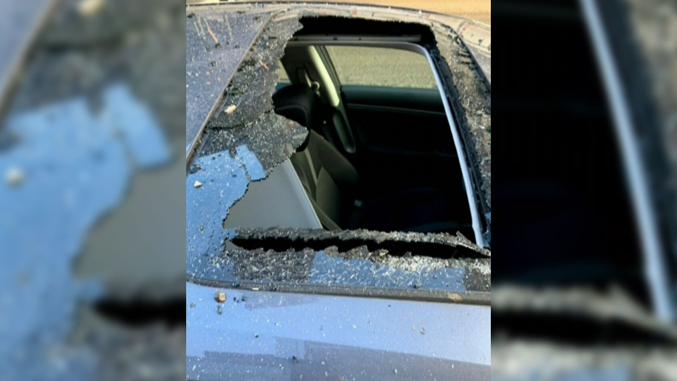 On Feb. 22, 2019, Kristine Bernard and Myles Carter were driving to work in downtown Montreal when a1.5 kilogram hunk of ice smashed through their sunroof, hitting Bernard in the head.