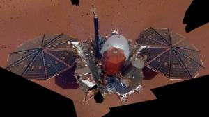 This Dec. 6, 2018 image made available by NASA shows the InSight lander. (NASA via AP)