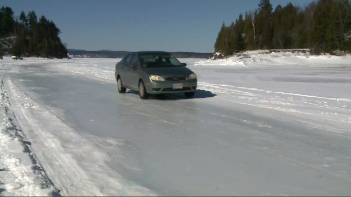 The ice road from Saint John to the Kingston Peninsula has made a comeback this year. Police advise against using the shortcut across the Kennebecasis River, but for now, a lot of motorists are taking advantage of one of the perks of a cold winter.