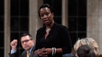 Parliamentary Secretary to the Minister of International Development Celina Caesar-Chavannes rises during Question Period in the House of Commons on Parliament Hill in Ottawa on Friday, May 25, 2018. THE CANADIAN PRESS/Justin Tang