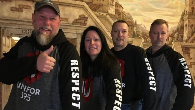 Syncreon Automotive workers on March 3, 2019. (Ricardo Veneza/CTV)