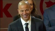 Flames forward Jarome Iginla honoured