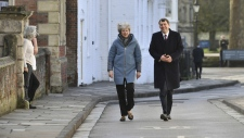 PM Theresa May in Salisbury, England