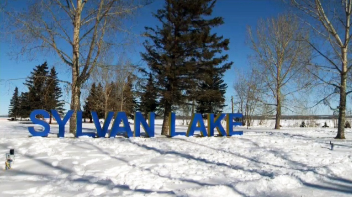 Sylvan Lake in winter