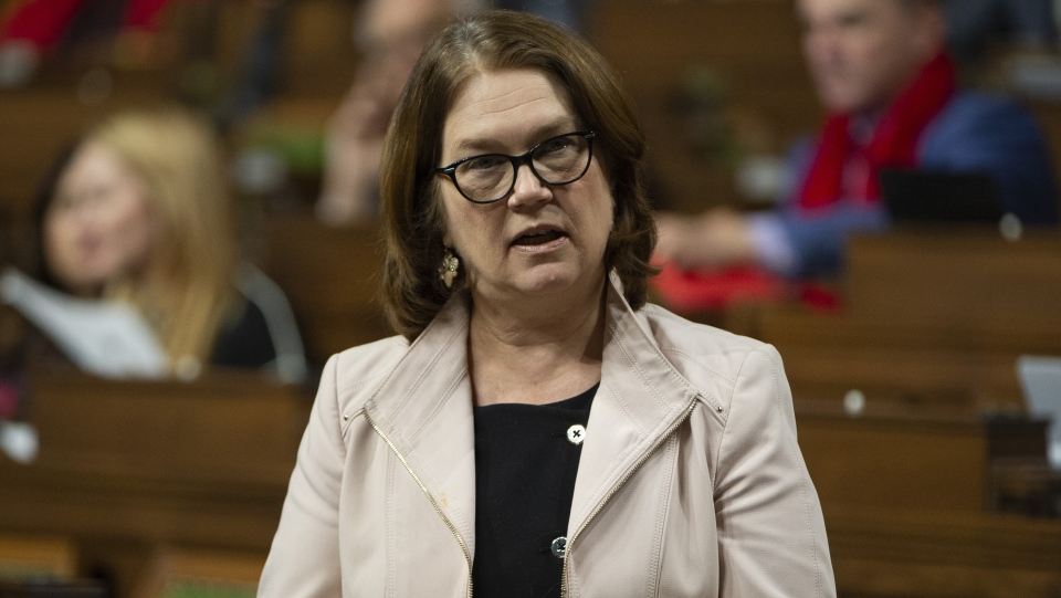 Jane Philpott rises in the House of Commons to pay tribute to the late auditor general Michael Ferguson, Monday, February 4, 2019 in Ottawa. THE CANADIAN PRESS/Adrian Wyld