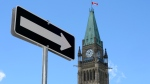 The Peace Tower on Parliament Hill in Ottawa is shown on Sunday, Aug. 2, 2015. (THE CANADIAN PRESS/Justin Tang)