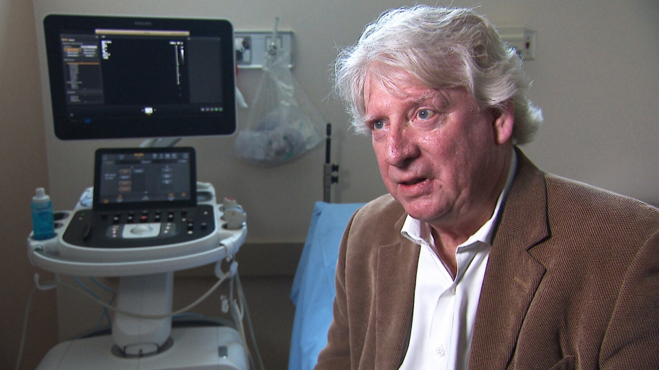 Patient John Brett was having an ultrasound on his leg when a technician offered to do a quick check of his abdomen too, catching the aortic aneurysm early.