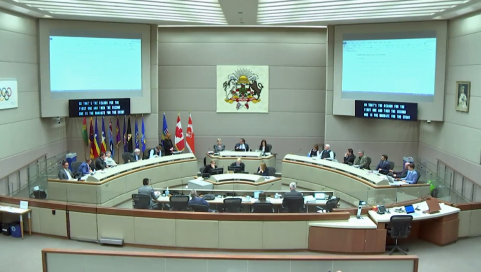 Calgary city council -major project funding