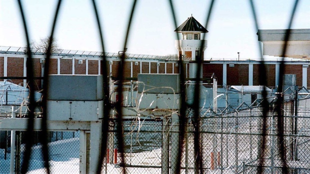 A view of from the men's maximum security unit of the Saskatchewan Penitentiary in Prince Albert, Sask., is shown on January 23, 2001. THE CANADIAN PRESS/Thomas Porter