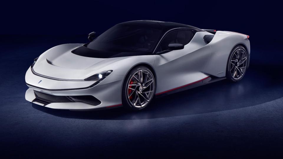 The Pininfarina Battista was unveiled at the Geneva Auto Show on Tuesday, March 5, 2019. (Pininfarina)