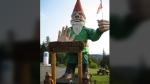 The world's largest gnome has been standing in Nanoose Bay on Vancouver Island for 21 years. (Bridget Matewish/Facebook)