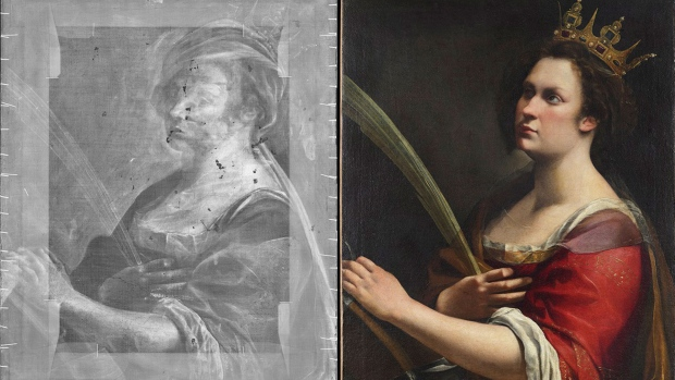 Uffizi X,ray reveals hidden Artemisia Gentileschi painting