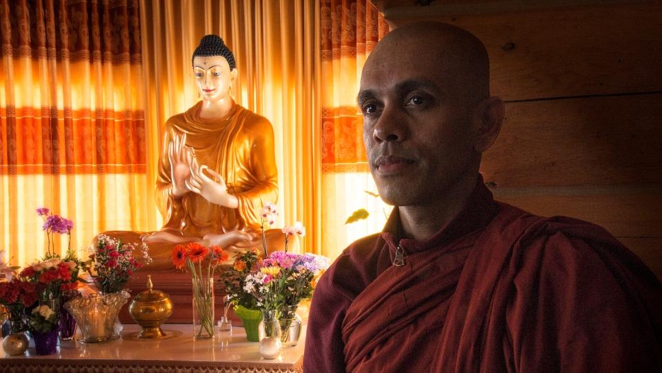 Bhante, a Buddhist monk from Sri Lanka, has been leading meditation classes and retreats in Corman Park. (Slavomir Kutas/CTV Saskatoon)
