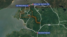 The Wanipigow Sand Extraction Project map