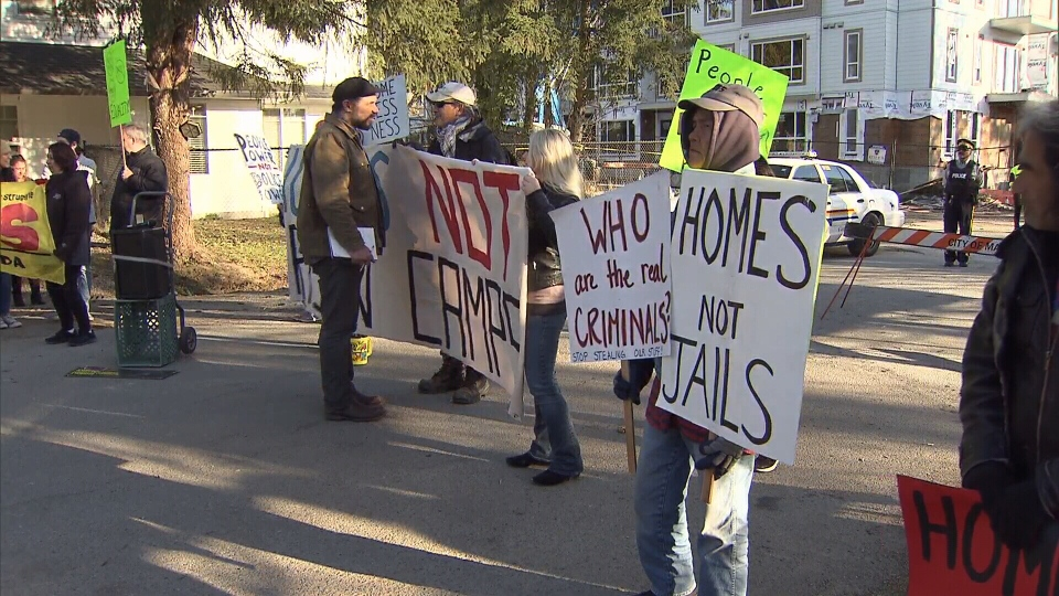 Protesters demand housing action in Maple Ridge