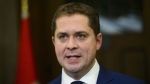 Conservative Leader Andrew Scheer holds a press conference in Ottawa on Wednesday, Feb. 27, 2019. Scheer is promising to remove the GST from Canadians' home heating bills as part of an early election campaign commitment. THE CANADIAN PRESS/Sean Kilpatrick