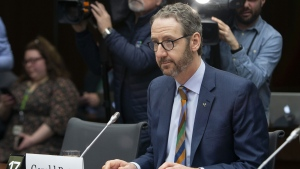 Gerald Butts, former principal secretary to Prime Minister Justin Trudeau, prepares to appear before the Standing Committee on Justice and Human Rights regarding the SNC Lavalin Affair, on Parliament Hill in Ottawa on Wednesday, March 6, 2019. (Fred Chartrand / THE CANADIAN PRESS)