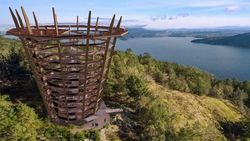 Malahat Skywalk partners had expected the attraction to be complete by June. CTV News has requested an updated timeline for the project, but has not received a reply from A.Spire by Nature. (A.Spire by Nature)