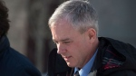 Dennis Oland heads from the Law Courts after the start of his testimony in Saint John, N.B., on Wednesday, March 6, 2019. THE CANADIAN PRESS/Andrew Vaughan