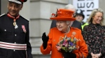Britain's Queen Elizabeth II reacts during a visit to the Science Museum in London, Thursday March 7, 2019. (Simon Dawson/Pool via AP)