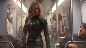 Brie Larson in a scene from 'Captain Marvel.' (Disney-Marvel Studios via AP)