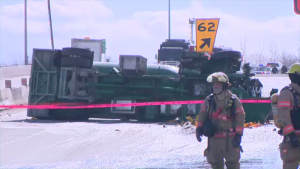 Truck flipped highway 15 March 7