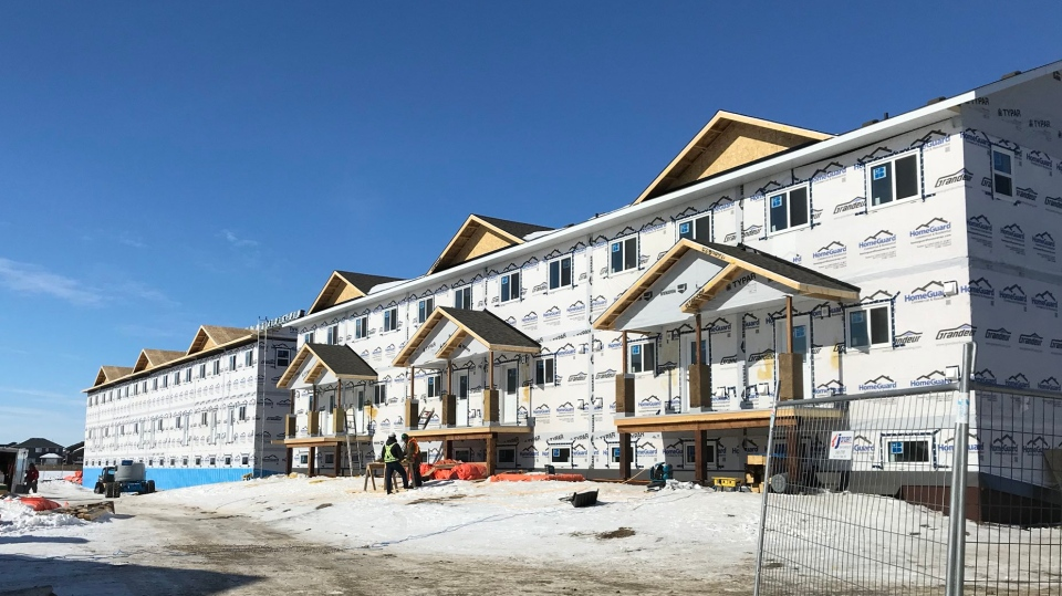 Homes are under construction in Saskatoon in this file photo. (Stephanie Villella/CTV Saskatoon)
