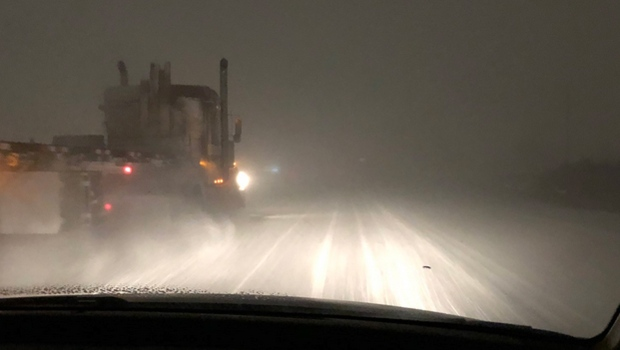 QEII adverse driving conditions - March 7, 2019