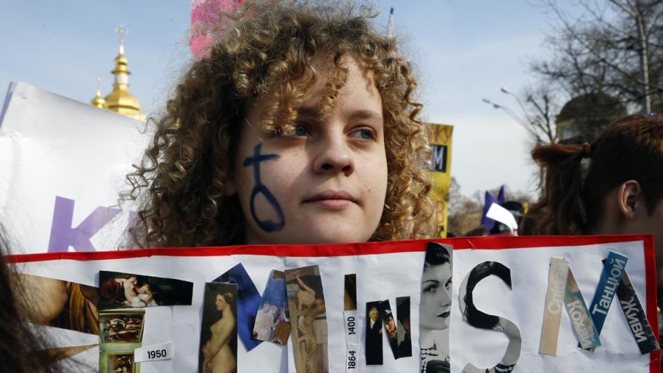 Women's Day march in Kyiv, Ukraine