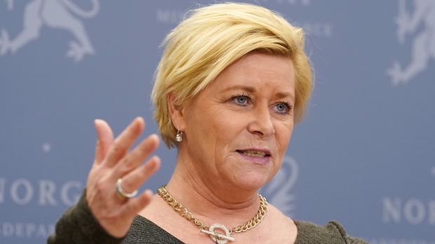 Norway's Minister of Finance Siv Jensen