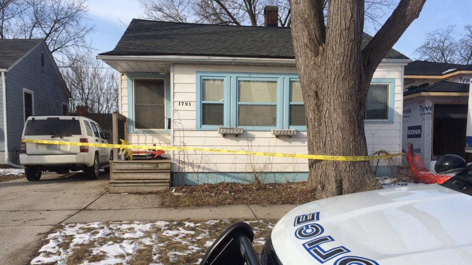 Windsor Police are investigating after shots were fired at a home in the 1700 block of Tourangeau Rd. near Milloy St. on March 8, 2019. ( Michelle Maluske / CTV Windsor )