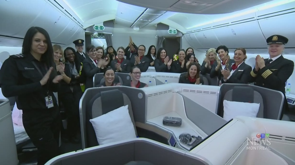 Air Canada showcases all-female flight crew