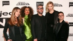 "Nina Garcia, from left, Elaine Welteroth, Brandon Maxwell, Karlie Kloss and Christian Siriano attend the season premiere of Bravo's ""Project Runway"" at Vandal on Thursday, March 7, 2019, in New York. (Photo by Andy Kropa/Invision/AP)"