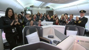 Air Canada showcases all-female flight crew for wo