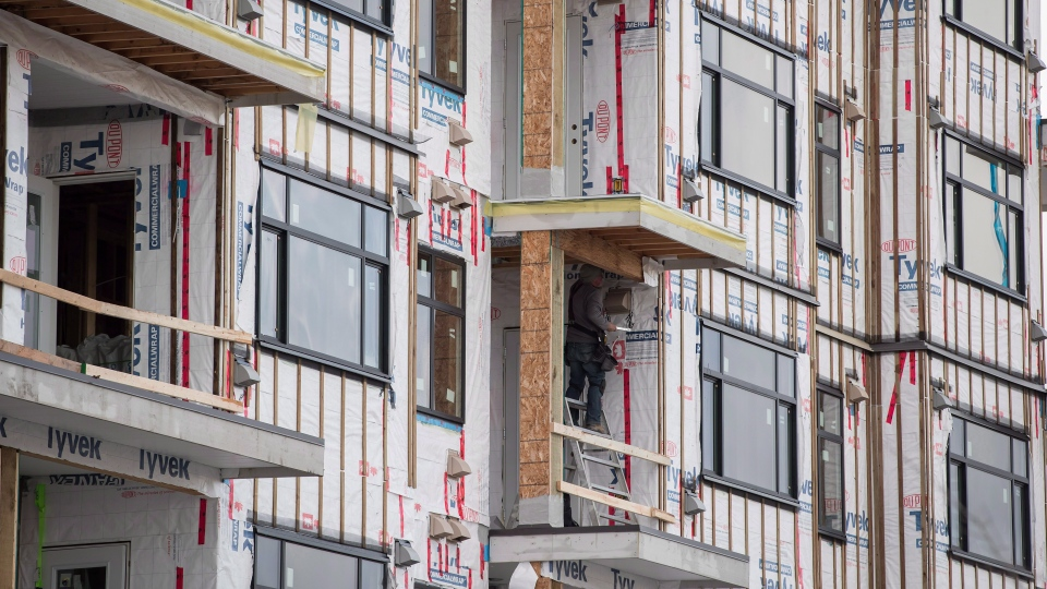 The Landing condo development is seen under construction in Langley, B.C., on Monday December 10, 2018. THE CANADIAN PRESS/Darryl Dyck