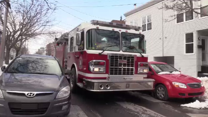 Municipal officials say 3 meters, or 9.8 feet, is the minimum width required between vehicles parked on the street. Even this is cutting it close, with a firetruck measuring nine to ten feet in width.
