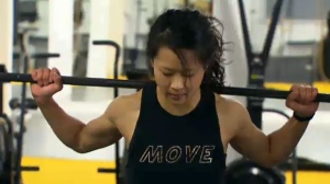 Yvette Yong is seen training at a Toronto-area gym.