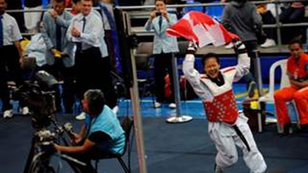 Yvette Yong is seen in this undated photograph at a taekwondo competition.
