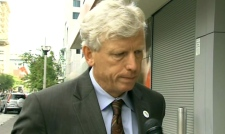 Toronto Mayor David Miller speaks with CTV Toronto from Front and John streets, Thursday, July 30, 2009.