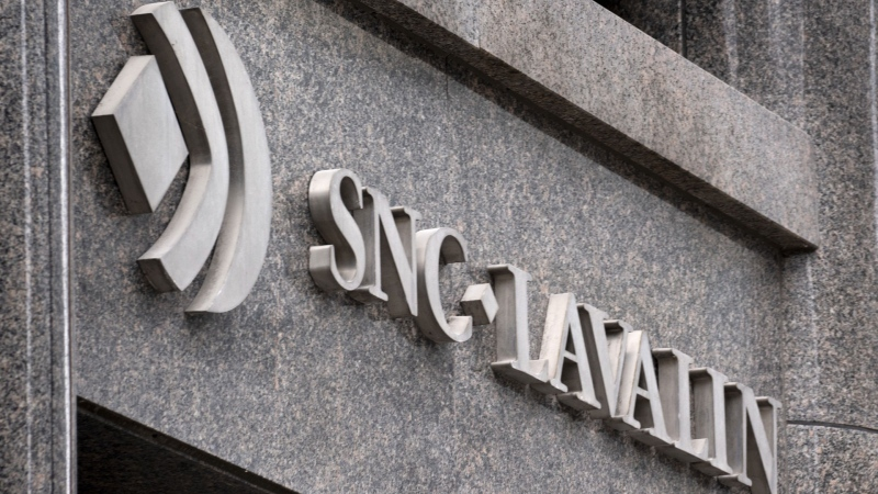 The SNC-Lavalin headquarters is seen in Montreal on February 12, 2019.  (THE CANADIAN PRESS / Paul Chiasson)