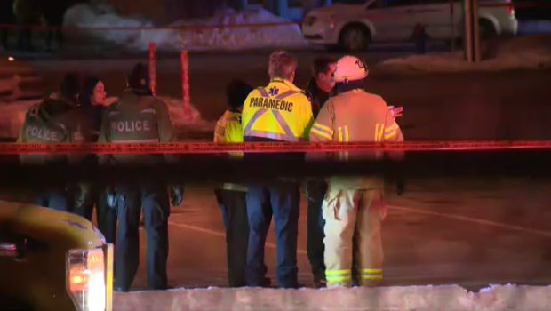 The standoff at a Caisse Desjardins in Salaberry-de-Valleyfieled lasted nine hours before the suspect - a man in his 50's - surrendered 'peacefully' around 1 a.m., according to police. (CTV Montreal)