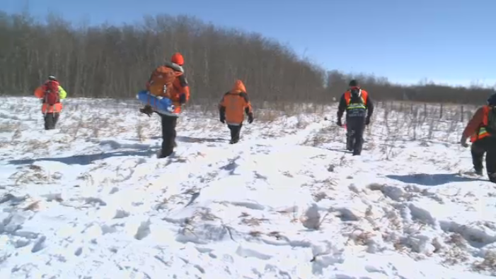 Volunteers took part in a mock Search and Rescue emergency situation near Pilot Butte on Saturday, March 9, 2019.