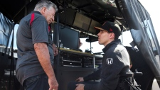 Robert Wickens and Mario Andretti