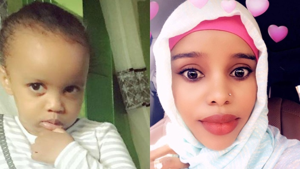 Amina Ibrahim Odowaa and daughter