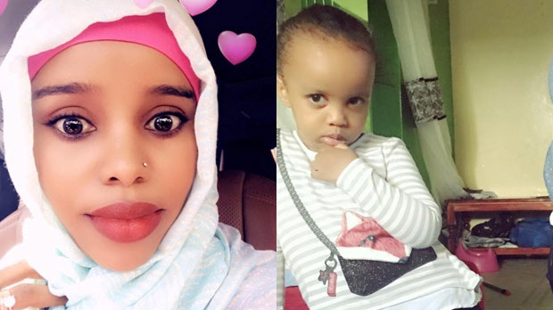 Amina Odowaa and her daughter Sofia Faisal Abdulkadir are seen in these undated family handout photos. THE CANADIAN PRESS/HO