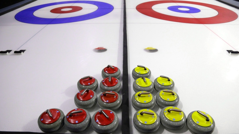 Curling rocks are shown Friday, Feb. 10, 2017, during a media demonstration the day before the opening ceremonies of the USA Curling Nationals in Everett, Wash.THE CANADIAN PRESS/AP, Ted S. Warren